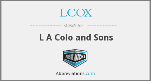 What does LCOX stand for?