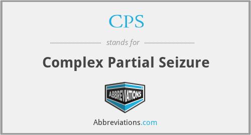CPS - Complex Partial Seizure