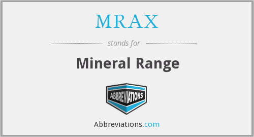 What does MRAX stand for?