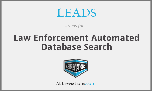 LEADS - Law Enforcement Automated Database Search