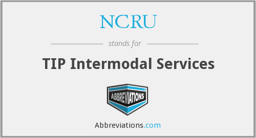 NCRU - TIP Intermodal Services