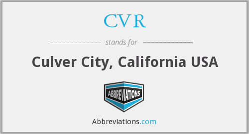 CVR - Culver City, California USA