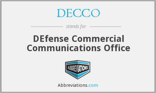 What does DECCO stand for?