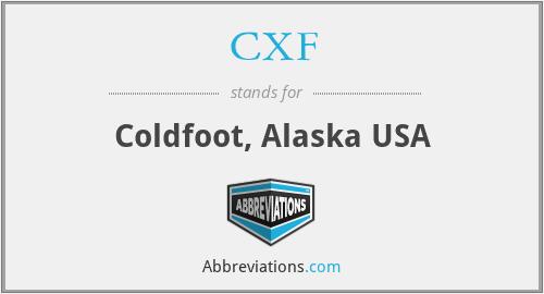 CXF - Coldfoot, Alaska USA