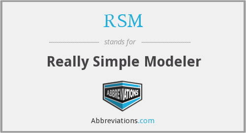 RSM - Really Simple Modeler