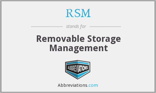 RSM - Removable Storage Management