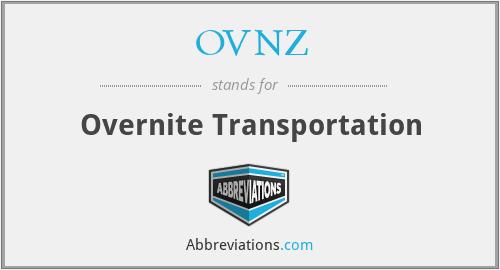 OVNZ - Overnite Transportation