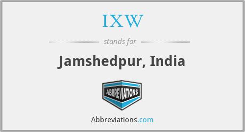 IXW - Jamshedpur, India