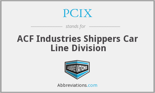 PCIX - ACF Industries Shippers Car Line Division