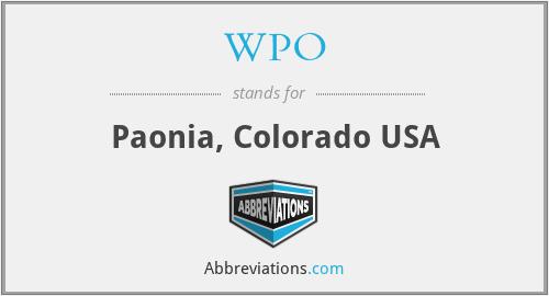 WPO - Paonia, Colorado USA
