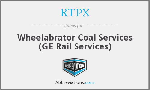 RTPX - Wheelabrator Coal Services (GE Rail Services)