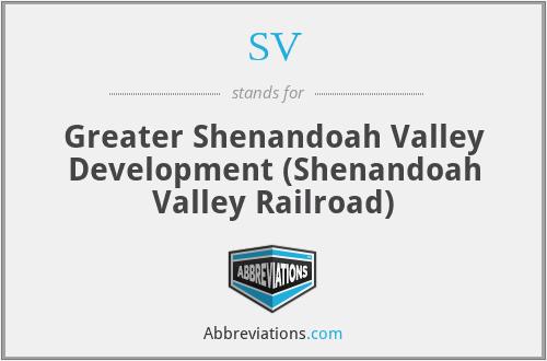 SV - Greater Shenandoah Valley Development (Shenandoah Valley Railroad)