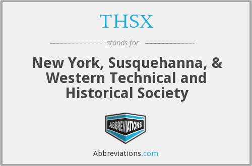 What does THSX stand for?