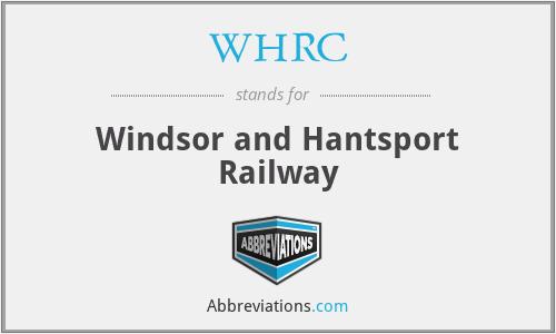 WHRC - Windsor and Hantsport Railway