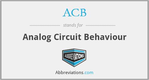 ACB - Analog Circuit Behaviour