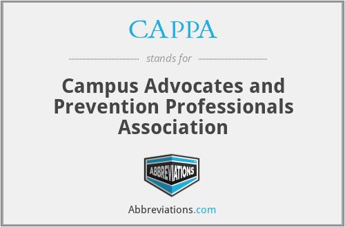 CAPPA - Campus Advocates and Prevention Professionals Association