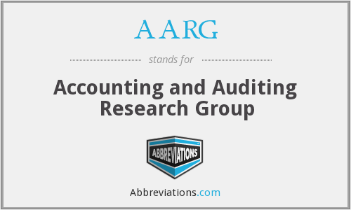AARG - Accounting and Auditing Research Group