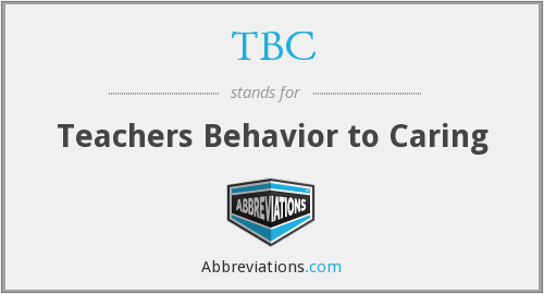 TBC - Teachers Behavior to Caring