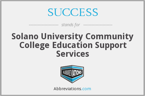 SUCCESS - Solano University Community College Education Support Services