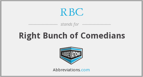 RBC - Right Bunch of Comedians