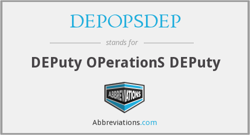 What does DEPOPSDEP stand for?