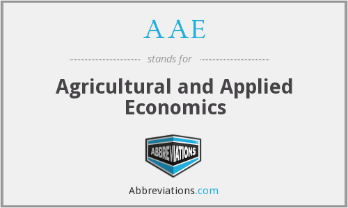AAE - Agricultural and Applied Economics
