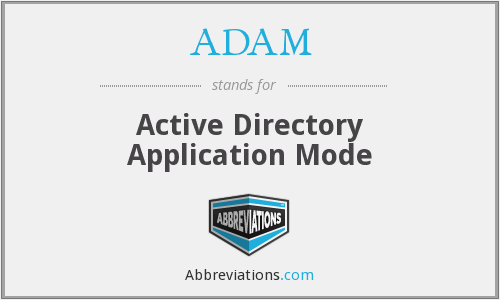ADAM - Active Directory Application Mode