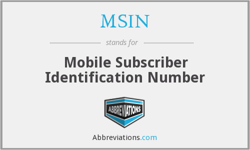 What does MSIN stand for?