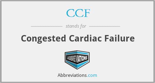 CCF - Congested Cardiac Failure