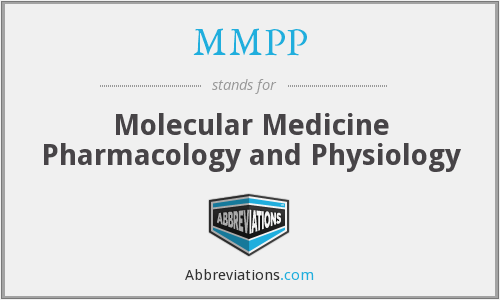 MMPP - Molecular Medicine Pharmacology and Physiology
