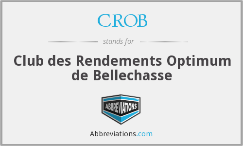 CROB - Club des Rendements Optimum de Bellechasse