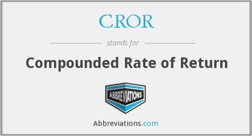 CROR - Compounded Rate of Return