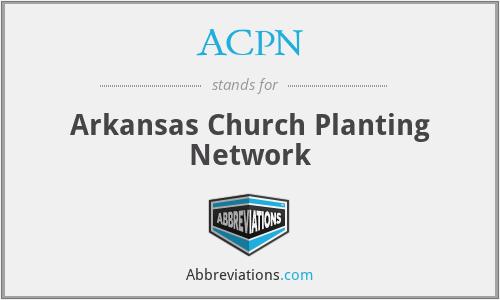 ACPN - Arkansas Church Planting Network