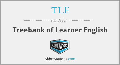 TLE - Treebank of Learner English