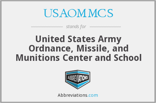 What does USAOMMCS stand for?