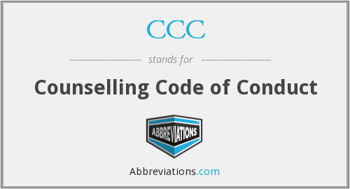 CCC - Counselling Code of Conduct