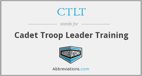 What does CTLT stand for?