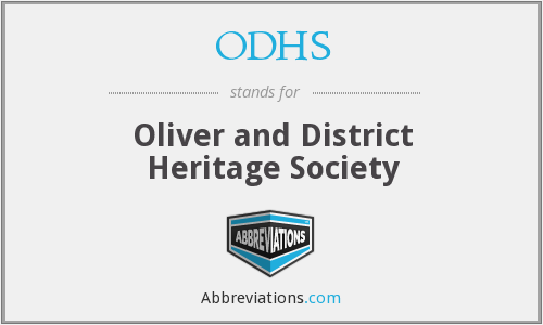 ODHS - Oliver and District Heritage Society