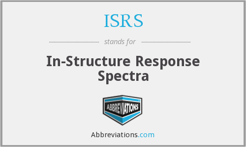 What does ISRS stand for?