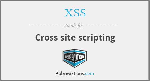 XSS - Cross site scripting