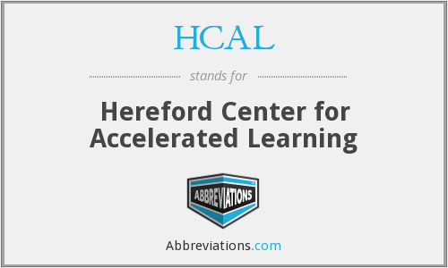 HCAL - Hereford Center for Accelerated Learning