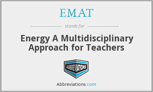EMAT - Energy A Multidisciplinary Approach for Teachers