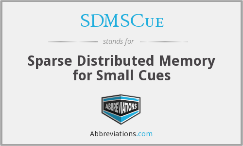 What does SDMSCUE stand for?