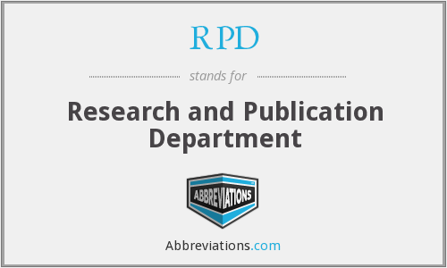 RPD - Research And Publication Department
