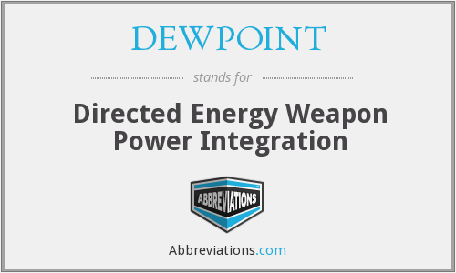 DEWPOINT - Directed Energy Weapon Power Integration