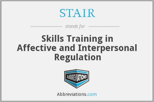 STAIR - Skills Training in Affective and Interpersonal Regulation