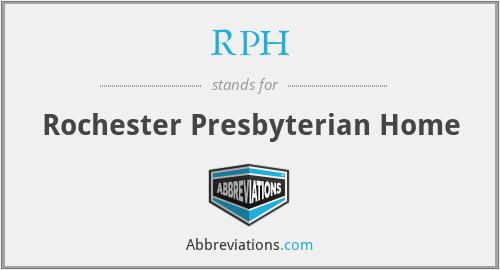 RPH - Rochester Presbyterian Home