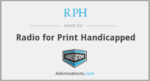 RPH - Radio for Print Handicapped