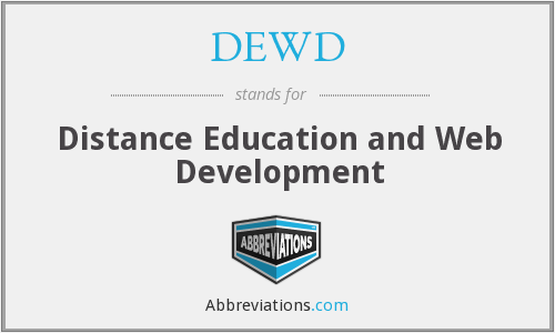 DEWD - Distance Education and Web Development