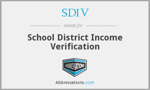 What does SDIV stand for?